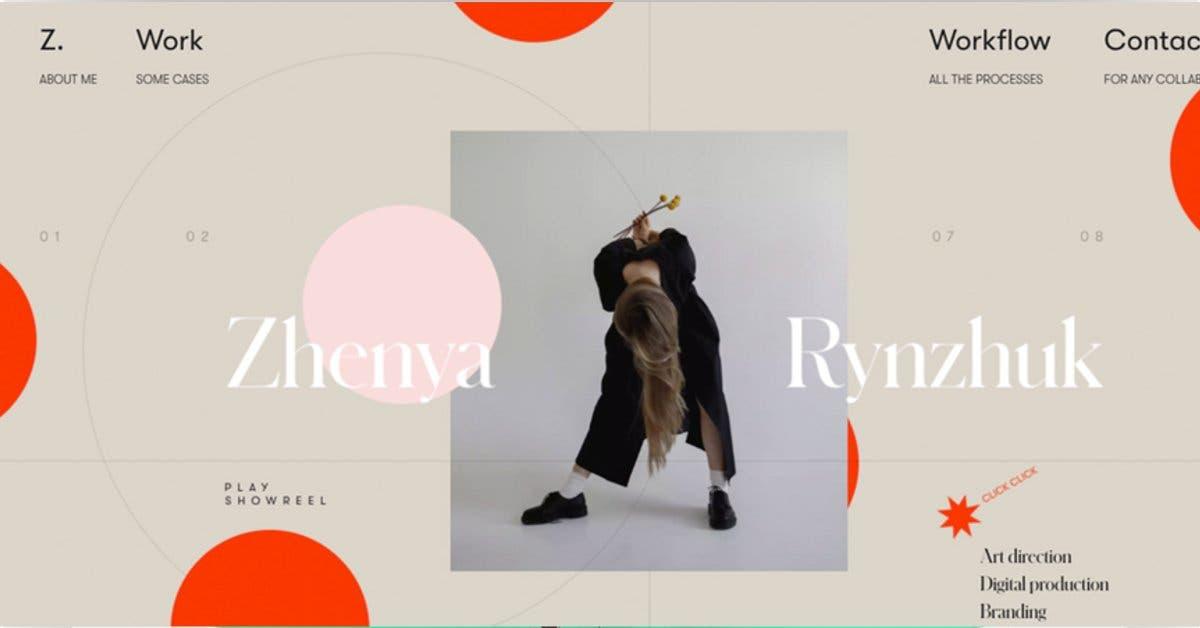 Un diseño en el que combina fotos, sale una mujer cabeza abajo y letras y diseño de fondo