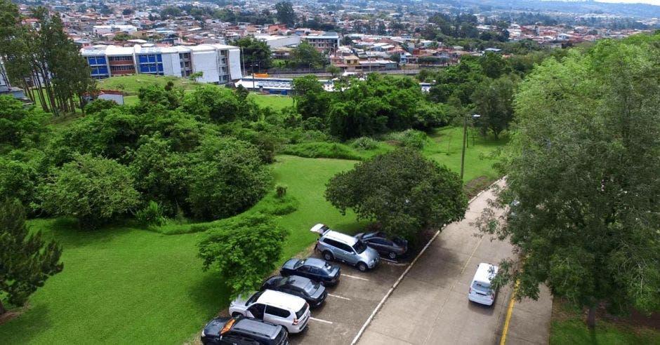 Vista aérea del campus del TEC