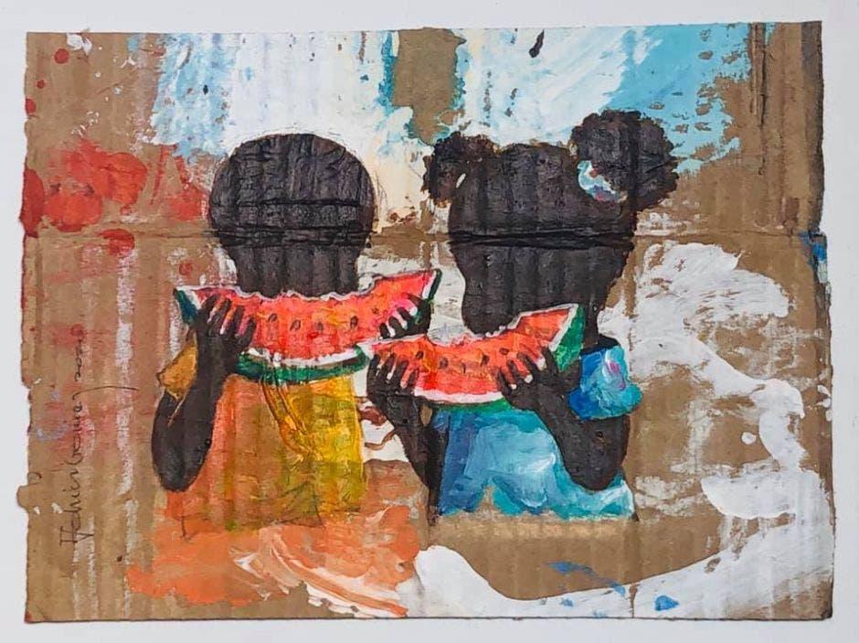 """Una de las obras de """"Colores del Caribe"""""""