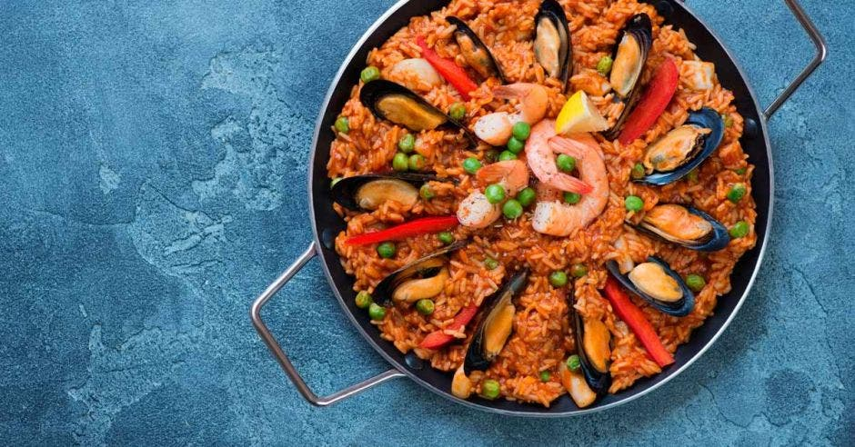 Un arroz con camarones