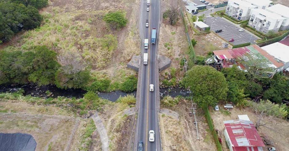 imagen desde los aires de la carretera a san ramón