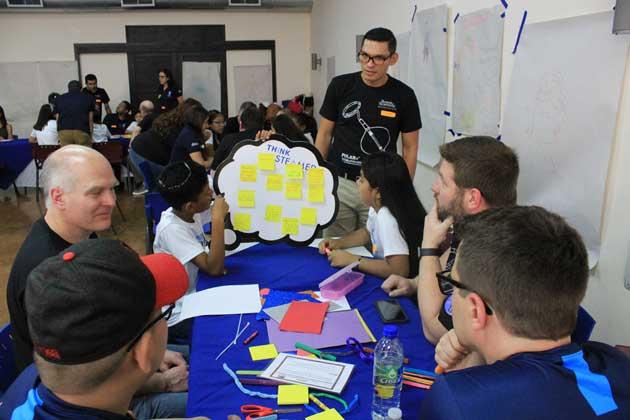 Funcionarios de Boston Scientific participaron de varios talleres  La Finca de Guararí y el Centro Cívico por la Paz