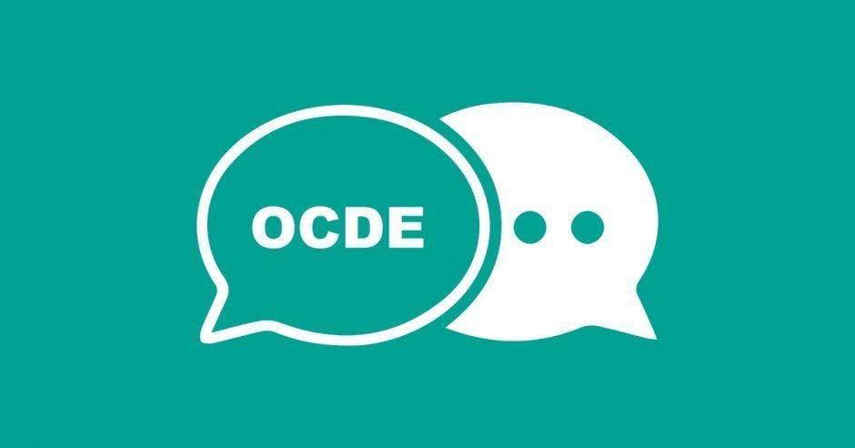 burbujas de dialogo con la palabra OCDE