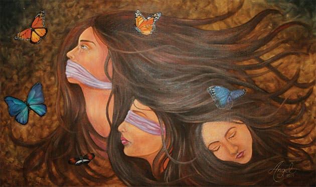"""El grito que callamos"". Autora: Angélica Cabalceta Román"