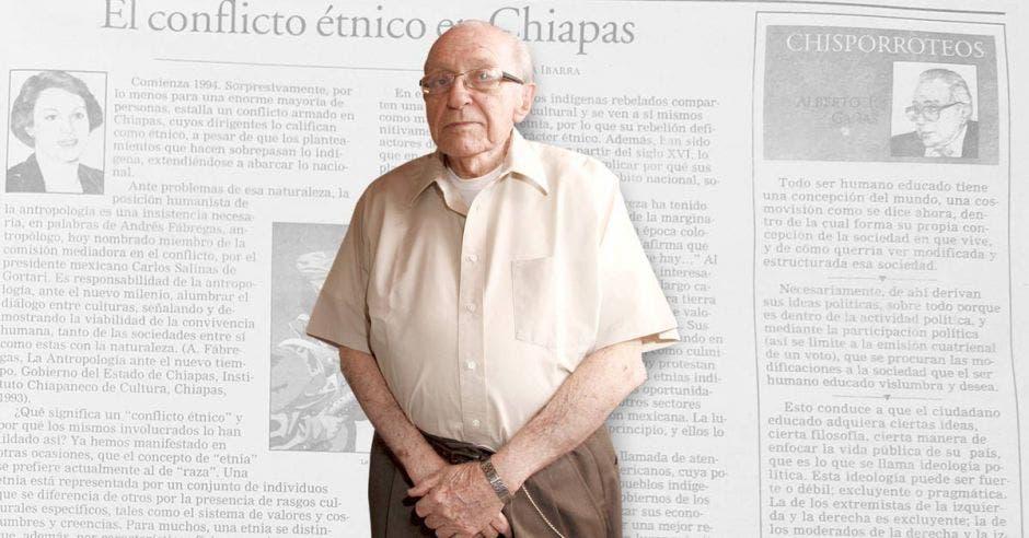 """Alberto Cañas primer Director de """"la República"""" de Costa Rica"""