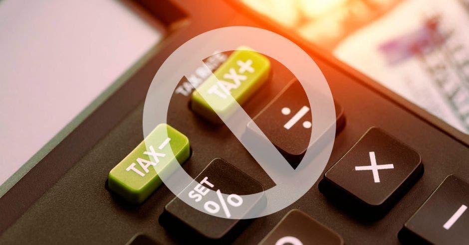 calculadora con el signo de prohibido
