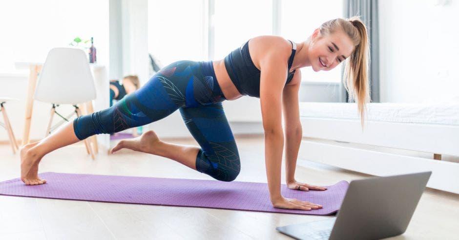mujer ejercicio