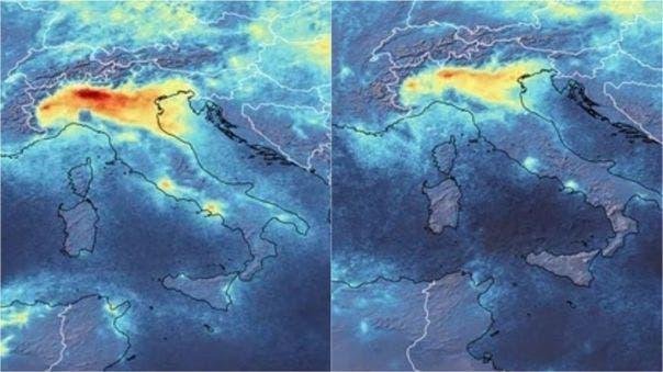 Dos mapas con señales de calor