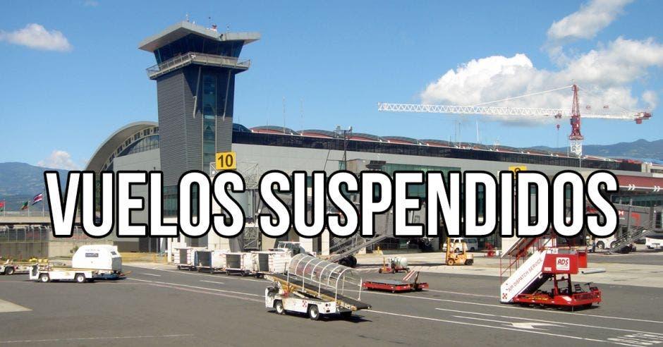 Vuelos suspendidos en el Juan Santamaría
