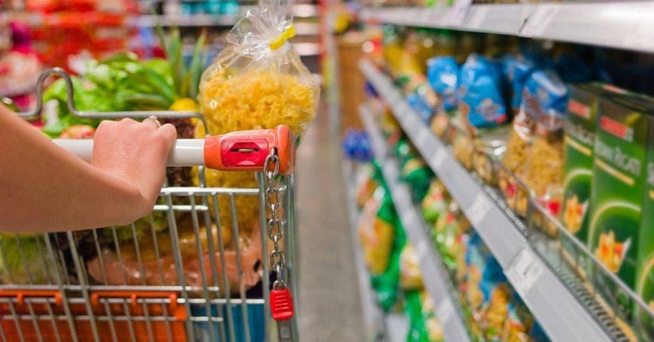 carrito de compras en un supermercado