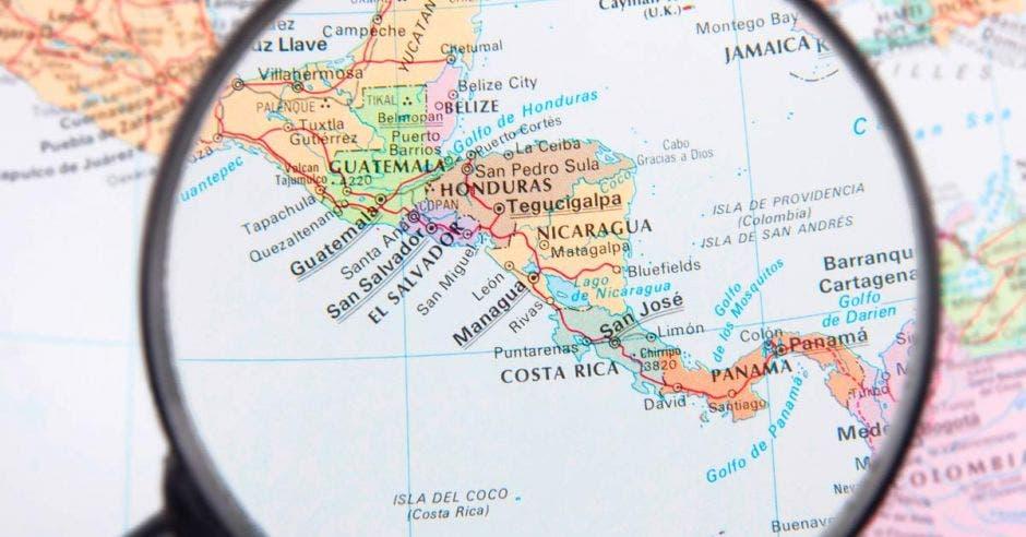 Mapa Centroamérica