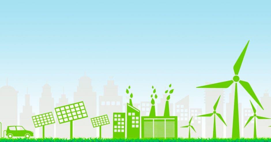 una imagen de una economía verde