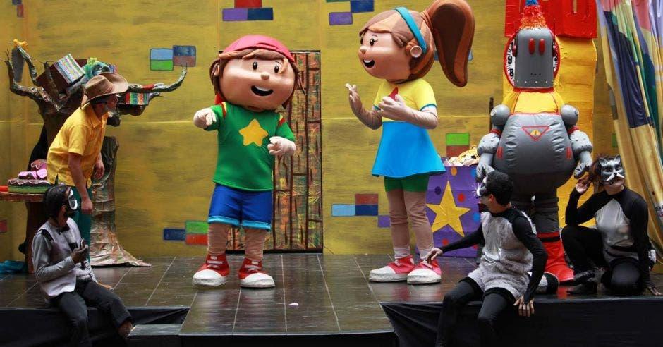 Personajes del museo de los niños
