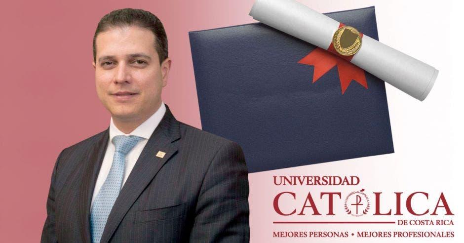 Dr. Fernando Felipe Sánchez Campos, Rector de la Universidad Católica de Costa Rica.
