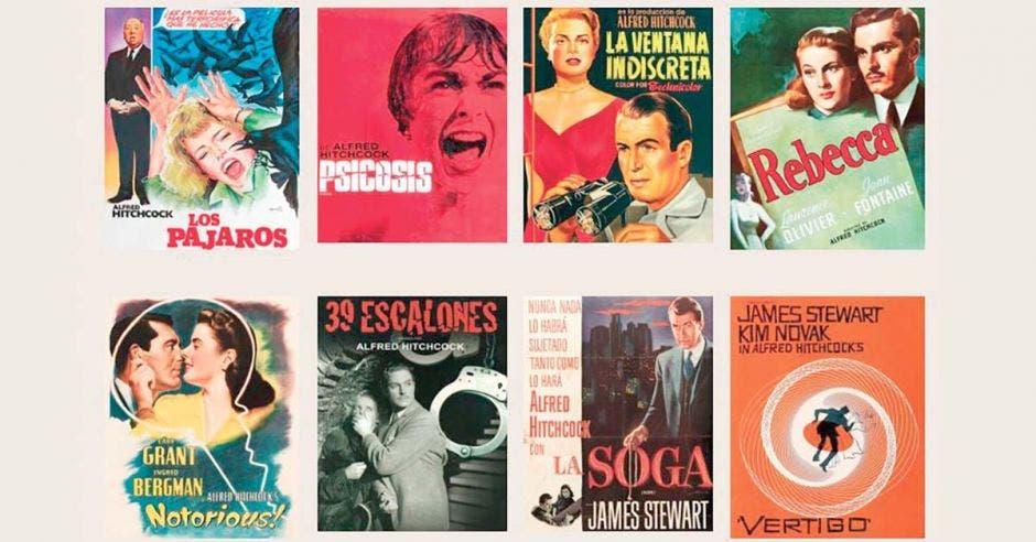 Carteles de películas de Hitchcok