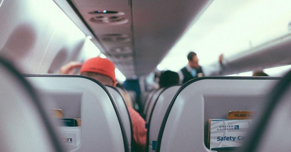 un asiento de avión