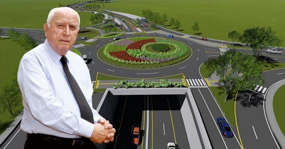 El proyecto de Circunvalación Norte de 5,4 kilómetros conectaría la ruta 32 con La Uruca y permitiría desahogar el tránsito para unos 100 mil vehículos al día. Rodolfo Méndez, ministro de Obras Públicas lidera el plan. Archivo-Cortesía/La República.