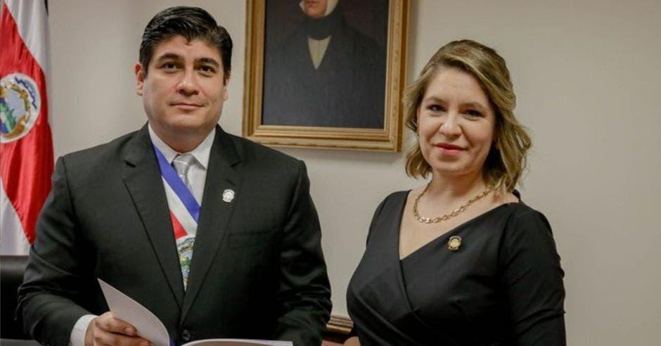 CArlos Alvarado dio su discurso hoy ante el Congreso. Archivo/La República.
