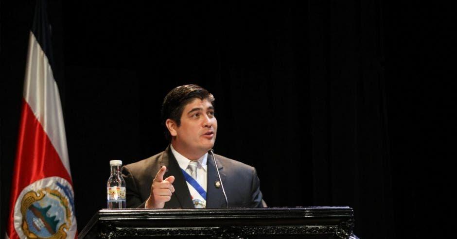 Carlos Alvarado, presidente de la República. Cortesía Julieth Méndez/La República.