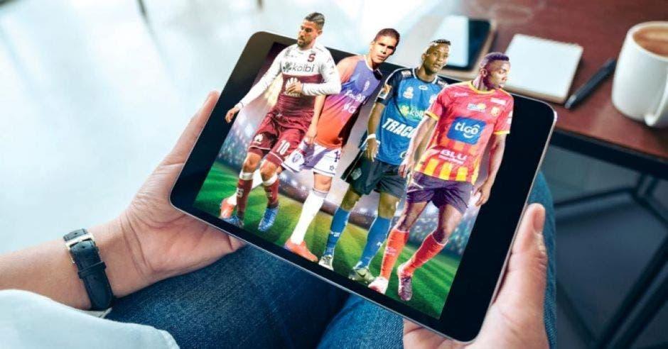 tablet y jugadores