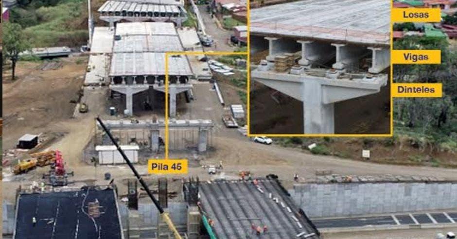 Se trata de la primera obra de infraestructura del país que tendrá tres niveles. Cortesía MOPT/La República.