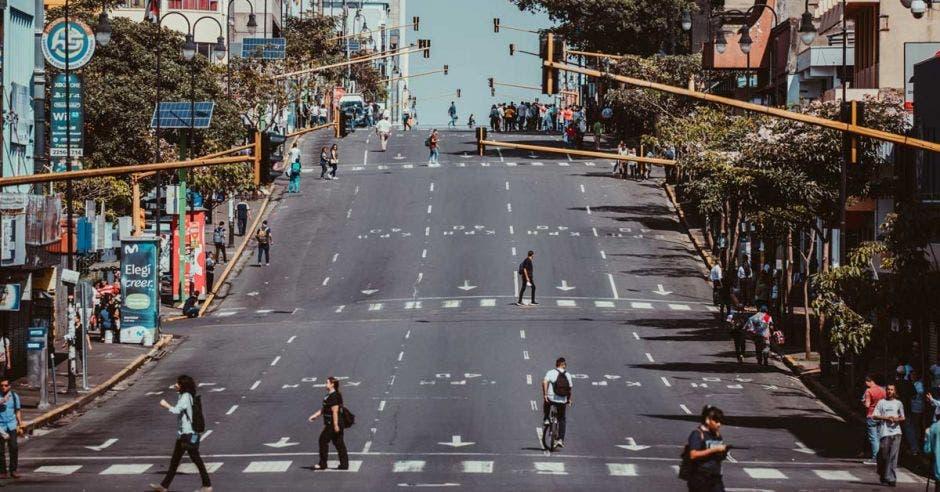San José Costa Rica sin peatones