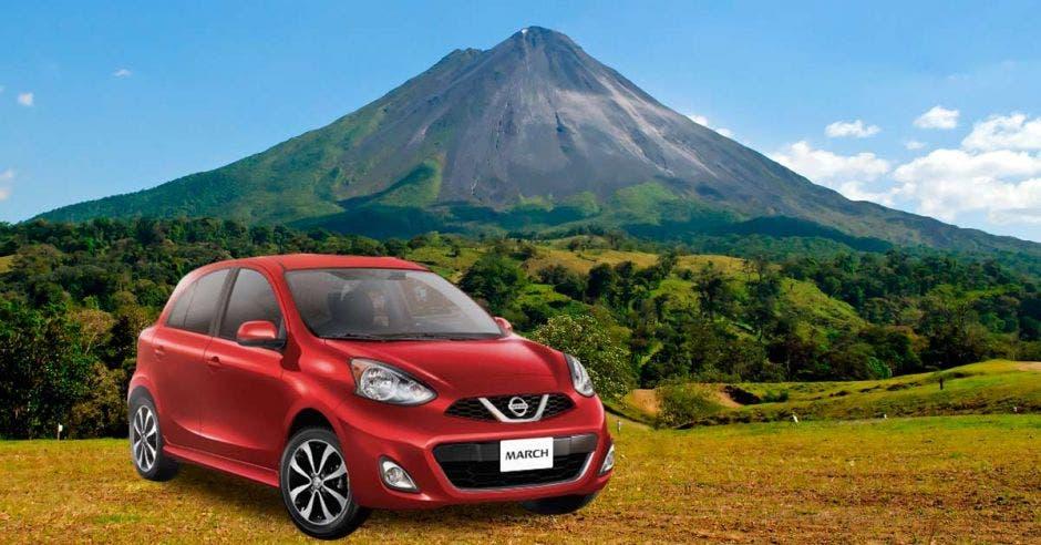 carro y volcan
