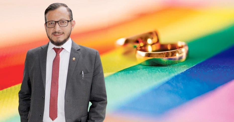 """""""Los intentos que vengan para derogar el matrimonio entre dos personas del mismo sexo van a fracasar"""", dijo Enrique Sánchez, diputado del PAC. Archivo/La República."""