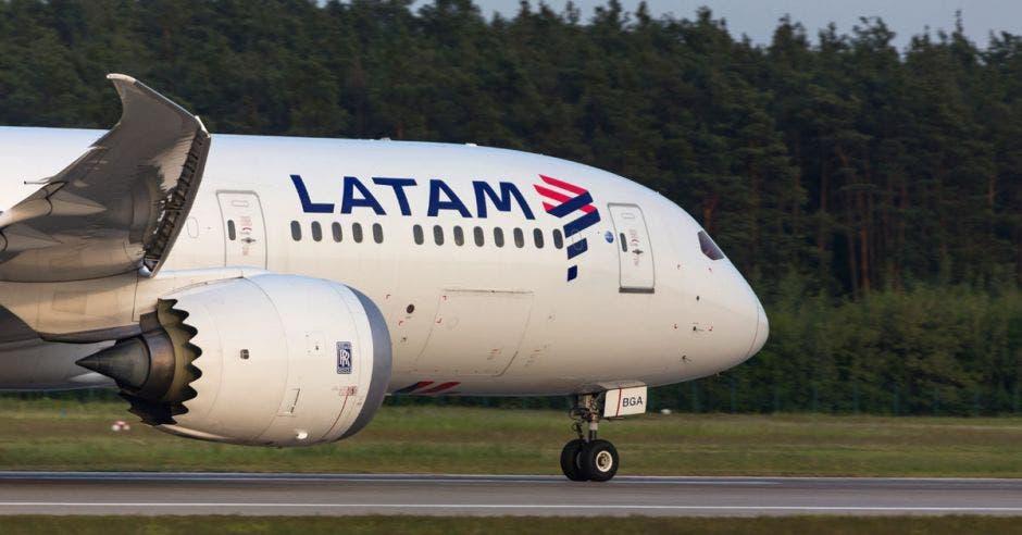 Avión de Latam Arilines