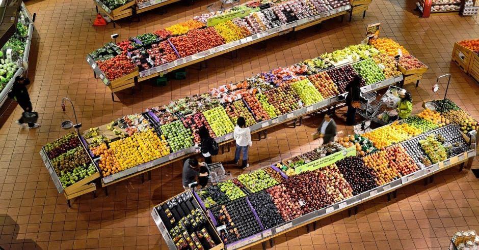 Toma de un supermercado