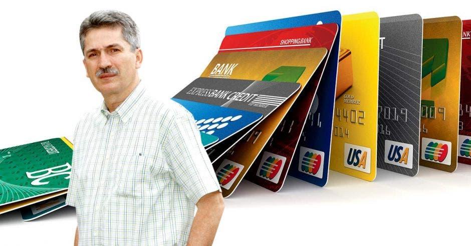 La deuda total en tarjetas de crédito en Costa Rica es de ¢1,4 billones, según Welmer Ramos, diputado del PAC. Elaboración propia/La República.