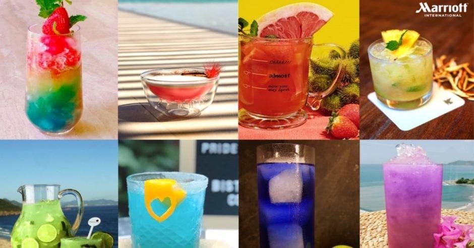 Serie de bebidas alcohólicas ofrecidas por Marriott