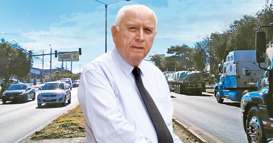 Rodolfo Méndez, ministro de Obras Públicas, tiene el reto de terminar la carretera de Circunvalación casi 45 años después de que él mismo la iniciara. Cortesía / La República