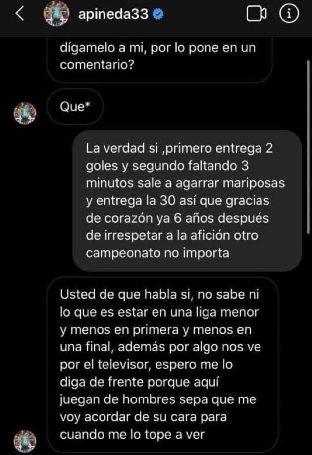 conversación de Adonis Pineda