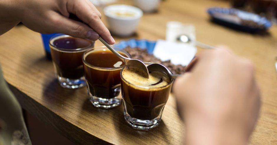 Tres tazas de café