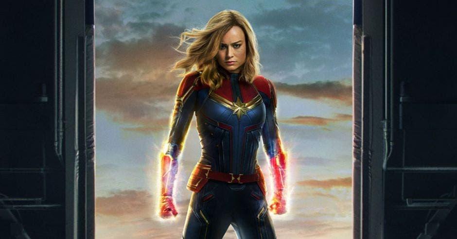 Brie Larson en su rol de Capitana Marvel