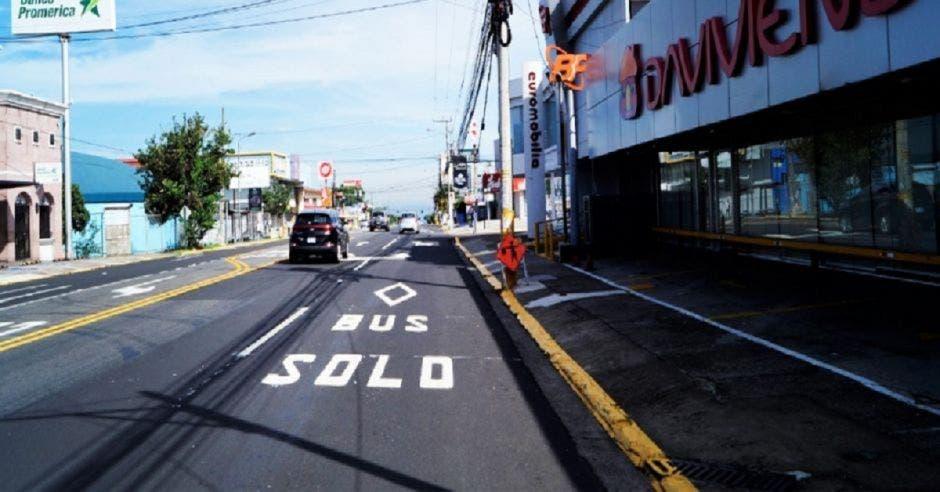 Calle principal de Pavas