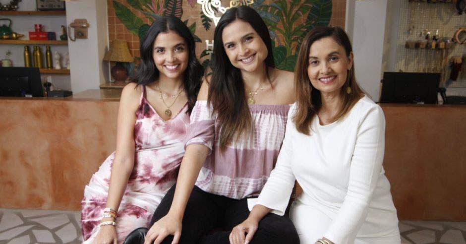Daniela Quirós, Melissa Quirós y Gabriela Arroyo