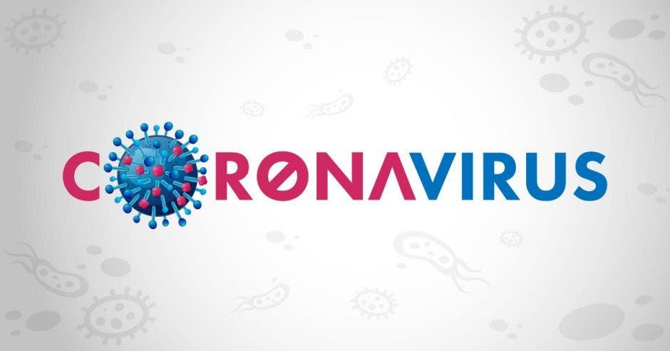 Coronavirus escrito con la O cambiada por el virus