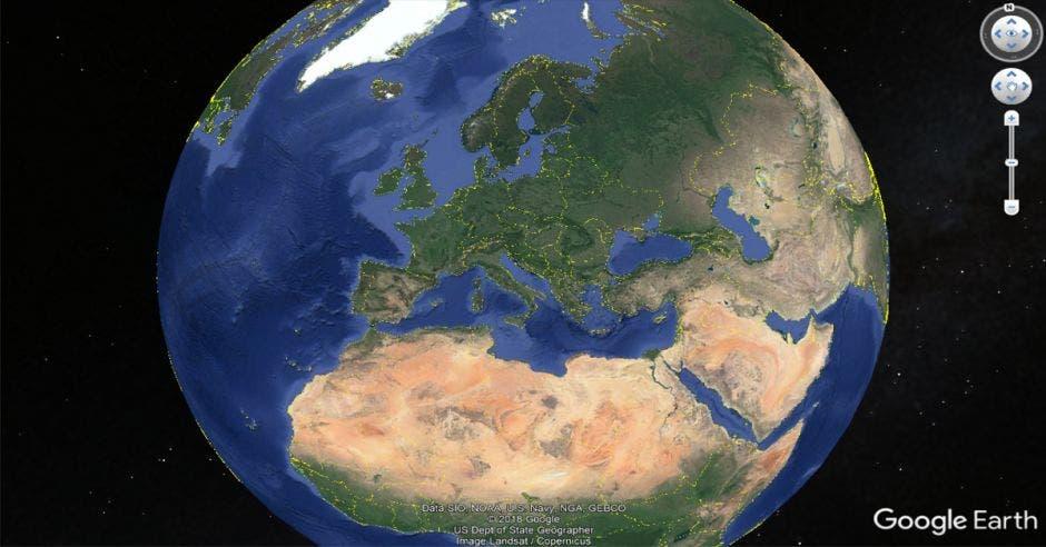 Google Earth toma de la tierra