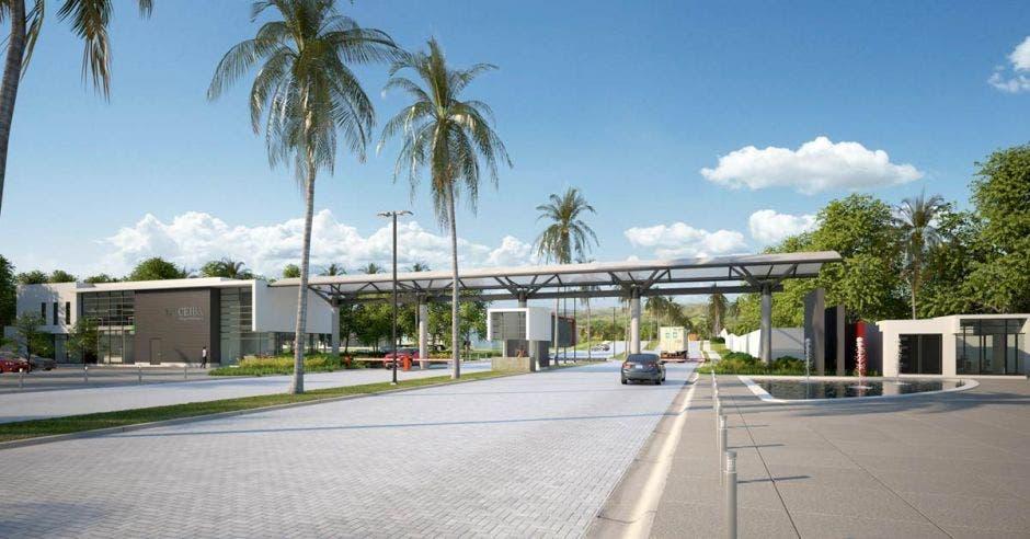 Entrada del parque industrial la Ceiba