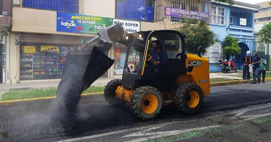 Trabajos en carreteras capitalinas