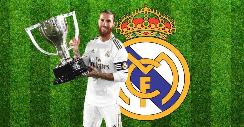 Sergio Ramos levantó otra Copa para los merengues.