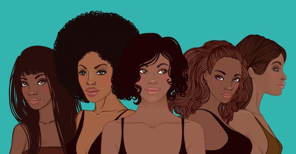 Mujeres afro ilustración