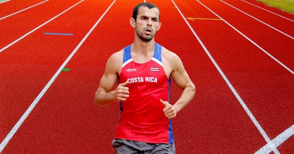 corredor en pista