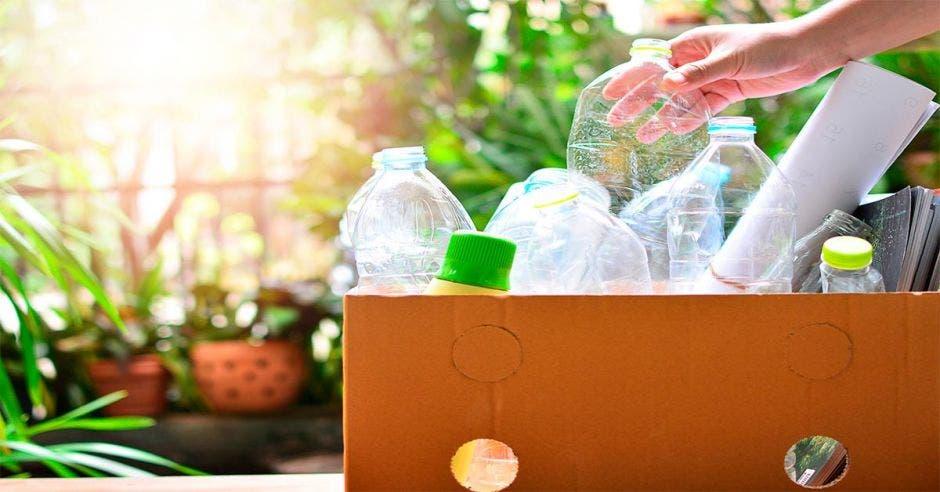 Una caja llena de objetos de plástico