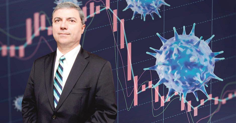 Gerardo Corrales con arte de covid en la economía