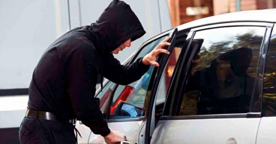 robo en curso de auto