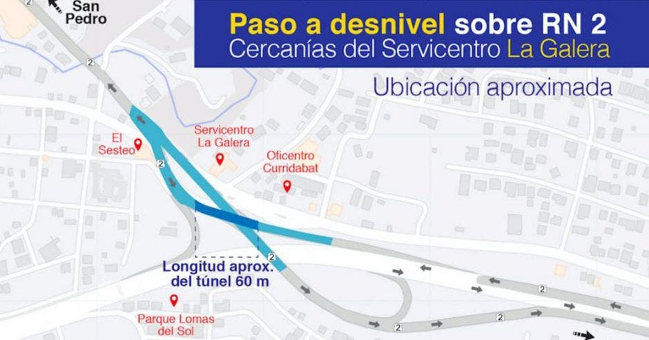 Croquis que explica el funcionamiento del túnel