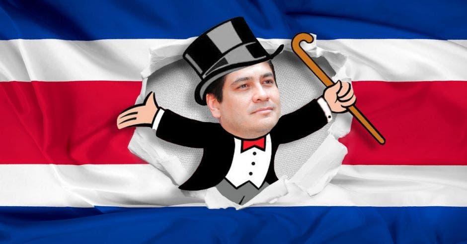 Carlos Alvarado, presidente de la República como protagonista de gran banco